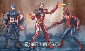 Civil War Marvel Legends Action Figures- Pack of 3 (Spider-Man, Iron Man & Captain America) @ Amazon