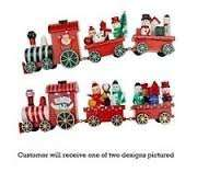 Christmas Wooden Train Toy Decorations - 3 Piece Set @ tesco+free delivery