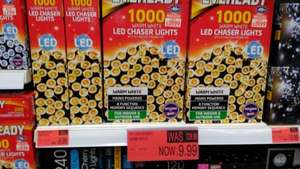 Cheap xmas lights 1000 Eveready led lights £9.99 instore @ B&M
