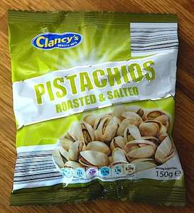 Clancy's Pistachios Roasted & Salted 300g only £1.99 @ ALDI