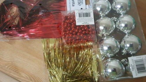 Christmas Tree decoration on half price sale 50p @ asda