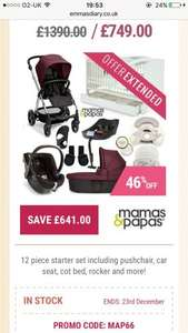 WoW was £1390 now £749 Mamas & Papas Sola² Starter Bundle With Cot Bed