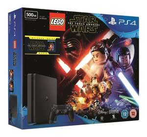 PS4 Slim 500GB Lego Star Wars: The Force Awakens Console Bundle + 2 Free Games £199.85 @ Shopto