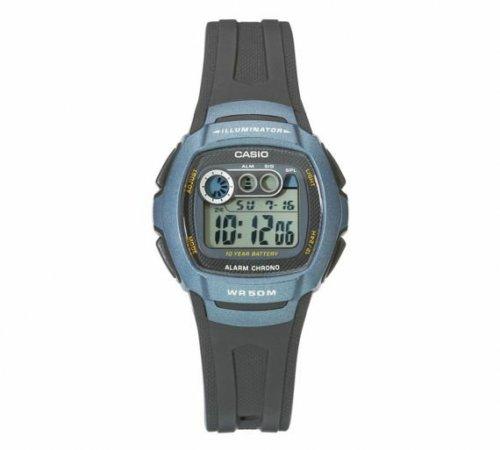Casio Men's LCD Digital Blue Case Black Strap Watch 1/2 PRICE £9.99 WAS £19.99 ~ ARGOS 2 YEAR GUARANTEE (FREE DELIVERY)