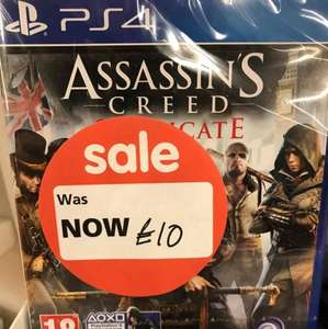 Assassin's Creed Syndicate (PS4) £10 @ Asda instore