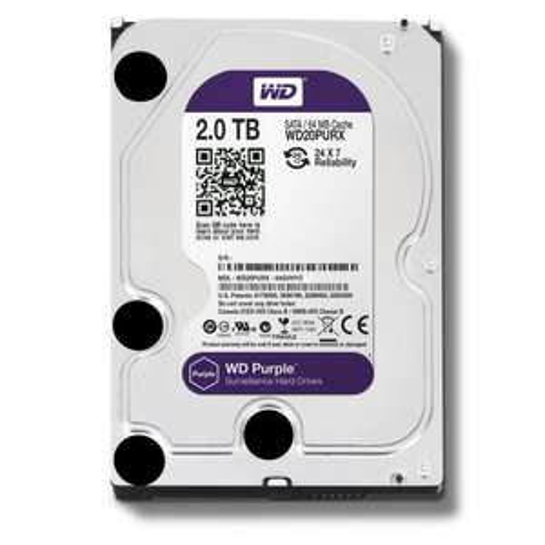 WD Purple 2TB Surveillance Hard Disk Drive - Intellipower SATA 6 Gb/s 64MB Cache 3.5 Inch
