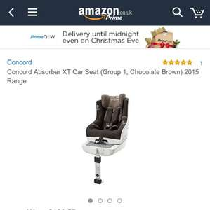 Concord Absorber XT car seat isofix (brown) @ Amazon Prime