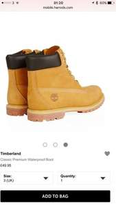 Timberland boots waterproof classic premium size 3 to 7 £55.90 del @ harrods