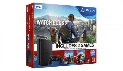PS4 Slim 500GB Watchdogs 1 & 2 Bundle £199.99 @ Argos