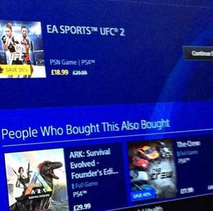 UFC 2 PS4 £18.99 @ PSN (Plus)