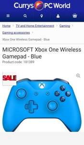 Buy MICROSOFT Xbox One Wireless Gamepad - Blue /Black / White | Free Delivery | Currys - £34.99