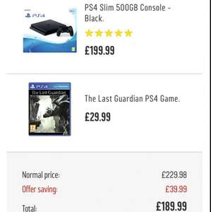 PS4 500GB Slim & The Last Guardian £189.99 Argos