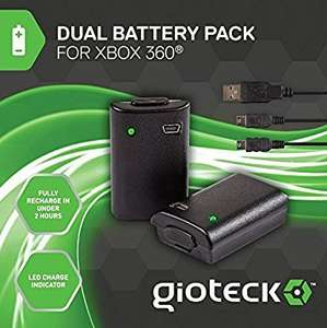 Gioteck Xbox 360 Double Battery Pack Was £9.00 Now £4.50 (Free c&c) @ Tesco