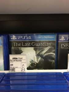 The last guardian playstation 4 £25 @ Asda instore & online