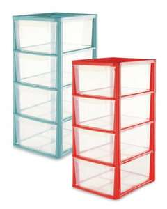 Coloured 4 Drawer Storage Tower  36 x 29 x 63cm  £9.99  @ Aldi (free delivery or instore on 29th Dec)
