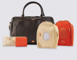Pacapod Leather Firenze Baby Changing Bag HALF PRICE M&S Preview Sale - £132.50
