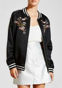 womens oversized embroidered bomber jacket now  £5 was £30 @ Matalan - Free c&c