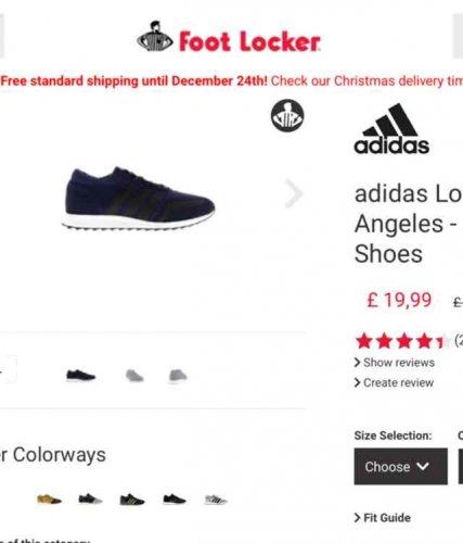 Adidas Los Angeles 71% off £19.99 / £24.99 delivered at footlocker
