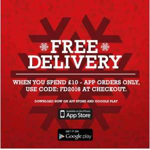 Free Delivery On Sweatshop with £10 spend via App