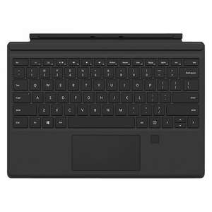 Official Microsoft Surface Pro Type Keyboard Fingerprint Cover for Surface Pro 3/4, Black Microsoft @ John Lewis