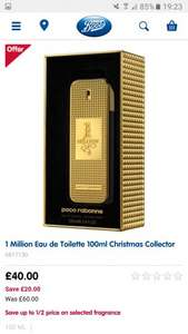 1 Million Eau de Toilette 100ml EDT Christmas Collector Edition £40 @ Boots