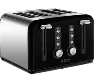 RUSSELL HOBBS Windsor 22832 4-Slice Toaster - Black £19 @ Currys