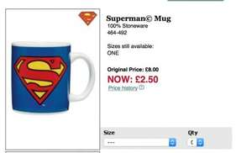 Superman Mug £2.50 @ Next