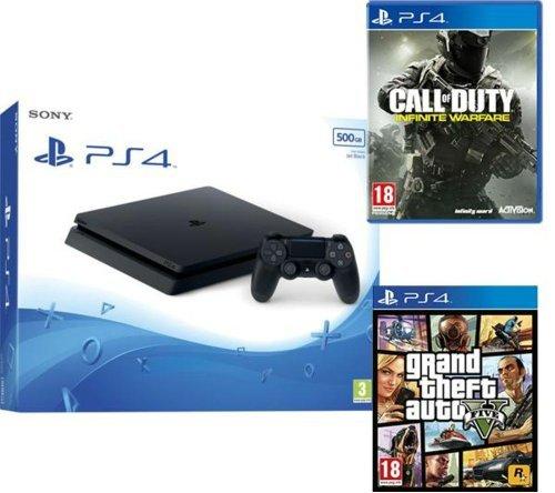 SONY Slim, Call of Duty: Infinite Warfare & Grand Theft Auto V Bundle - 500 GB at Smyths for £209