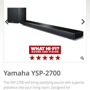 Yamaha YSP-2700  Digital Sound Projector/Sub at sevenoakssoundandvision £649 (RRP 799)