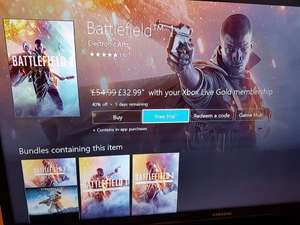 Battlefield 1 £32.99 if you have xbox gold account
