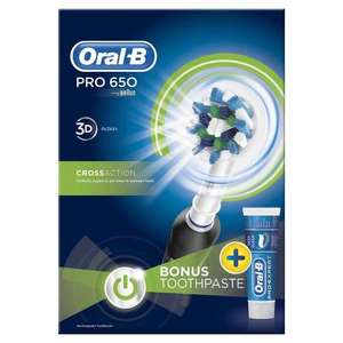 Oral B Power Handle Toothbrush Pro 650 Cross Action £10 @ Wilko