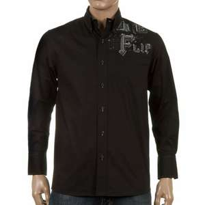 Flip Dotted Line Long Sleeve Shirt Black £1.50 (Delivery £3) Size Small @ Rollersnakes