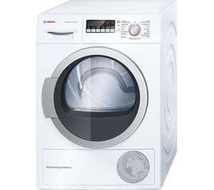 BOSCH WTW85250GB Heat Pump Tumble Dryer - White down from £699.99 to £549.99