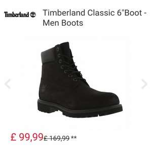 "Timberland Classic 6""Boot - Men Boots 7, 8 & 8.5 size £99.99 @ Foot locker"