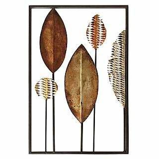bronze tribal leaf metal wall art £12.49 @ dunelm - Free c&c