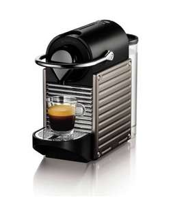 Nespresso XN300540 Pixie Coffee Machine by Krups (Titanium) + free £45 Nespresso club voucher - was £139.99 now £69.99 @ Amazon