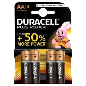 Duracell Plus Power AA Batteries 5 Pack + 3 Free (8 batteries in total) ONLY £3.60 @ Superdrug