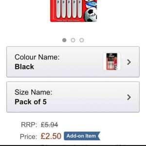 Sharpie Fine Point Permanent Marker - Black, Pack of 5 only £2.50 (Add On Item)
