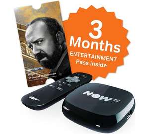 Now tv + 3 months entertainment pass £14.99 @ argos