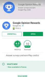 Try Google Opinion Rewards to earn credit