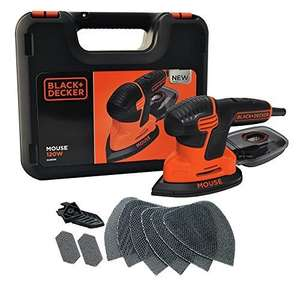 Black + Decker KA2500K-GB 120W Next Generation Mouse Sander with Kit Box and 9-Accessories @ Amazon for £27.99