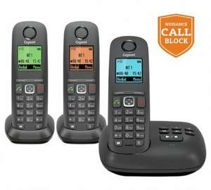 Triple Gigaset cordless phones with call blocking and answer machine, Half Price, Which? Best Buy. @ Argos,  Quidco cashback