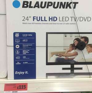 24  Inch Full HD LED TV/DVD at Sainsbury's for £115
