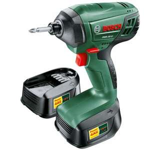 Bosch Power4all PDR 18 Li-2 18V Cordless Impact Driver with 2 batteries and fast charger £67.49 @ Robert Dyas