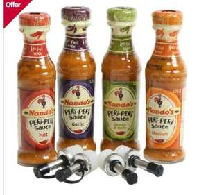 Nando's 4 Sauce Set  with drizzler caps £15 > £7.50 @ Boots instore (oos online)