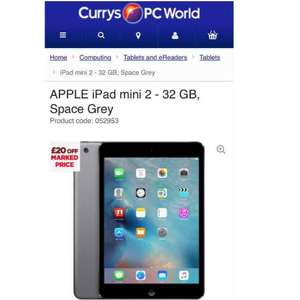 Apple iPad mini 2 32GB £219 at Currys online & in store