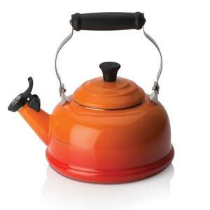 le creuset whistling stove kettle 1/2 price £35 reduced from £70 other colour's available @ le creuset