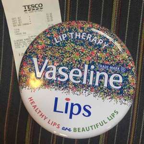 Vaseline Lips Tin with 3 Vaselines inside instore at Tesco for £1.62