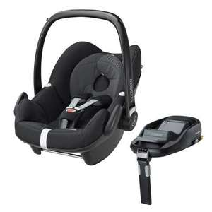 Maxi-Cosi pebble car seat with free familyfix isofix base at mothercare £350