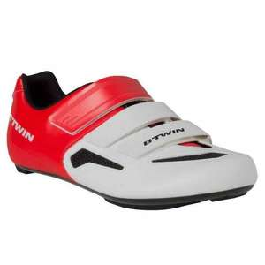 500 ROAD CYCLING SHOES - WHITE/RED sizes 6.5 and 7 for £15.99 at Decathlon